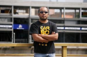 Gustavo Panta, autor del video del incidente del Metropolitano (Foto: Diego Miranda).