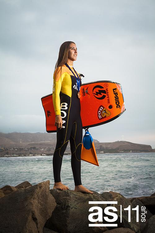 Carolina Botteri: «Me gustaría que las chicas sepan que el bodyboard no es solo para hombres; que ellas también pueden divertirse al máximo corriendo olas». (Foto: Augusto Escribens / Asia Sur)